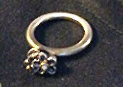 PURE SILVER AND 14 K GOLD RING