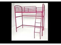 Brand New Hot Pink High Sleeper Bed Single Free Local Delivery