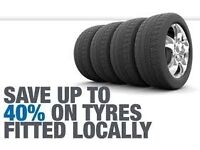 Mobile tyre fitting and repairs at home or work, upto 40% savings