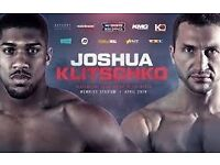 Anthony Joshua Klitschko Boxing Tickets Lower Tier Wembley Stadium 29/4 130 row 9