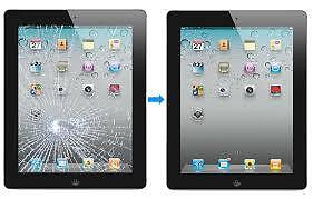 iPad mini 2 3 4 air 5 cracked screen glass LCD repair from $49