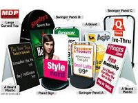 Pavement sign, Free standing signs, Directional signs