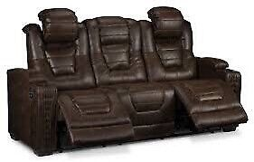 Power Solana Walnut Couch and 2 Recliners
