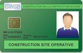 Level 1 CSCS Green Card - London **99.9% PASS RATES!! BOOK NOW