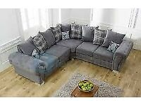 🔵💖🔴PREMIUM QUALITY🔵💖🔴verona 3 and 2 seater sofa set in grey color-cash on delivery