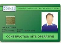 CSCS Level 1 Green Card course - Brighton - BOOK NOW 99.9% PASS RATE!