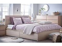 Malm Light Oak King Size Bed ***brand new***