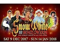 2 x tickets for the Snow White pantomime on Boxing Day at 7pm in the New Theatre, Cardiff
