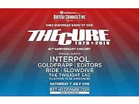 THE CURE HYDE PARK 7th JULY BRITISH SUMMERTIME TICKET (x 2 )