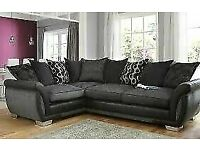 THE VAILABLE PRICE EVER🔵💖🔴NEW SHANNON SOFA- FABRIC & FAUX LEATHER LEFT/RIGHT CORNER | 3 2 SEATER