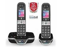True call BT cordless telephone - one only shown on the left in picture