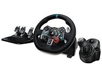 Logitec G29 Racing Wheel set up for Playstation 4, playstation 3 and PC