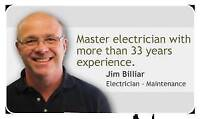 ACCREDITED MASTER ELECTRICIAN 33 YEARS EXP $50 P/H FREE ESTIMATE