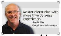 ACCREDITED MASTER ELECTRICIAN  33 YEARS $50 P/H FREE ESTIMATE
