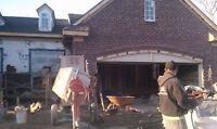 Maçonnerie, restauration de murs, crépis, cheminée, fissure