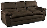 Almost New Chocolate Couches two Pieces extended warranty $850!!