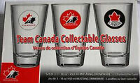 Team Canada Hockey Collectible Glasses