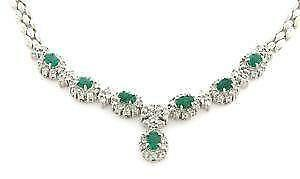 ct com gold oval amazon inch diamond yellow emerald natural necklace dp