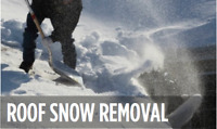 Roof top snow removal/snow plowing