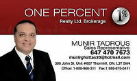REALTOR with Low Commission $6900 (One Percent Realty Ltd.)