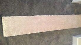 6ft ivory cream crushed velvet pelmet