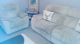 reclining sofa and armchair