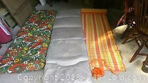 lounging chair pads and beach pad.