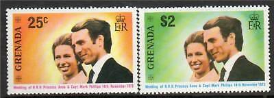 Grenada 1973 Royal Wedding SG 582/3 MNH