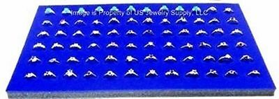 12 Blue 72 Ring Jewelry Display Liner Insert Pads 14 34 X 7 34