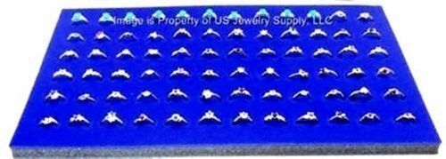 """12 Blue 72 Ring Jewelry Display Liner Insert Pads 14 3/4"""" x 7 3/4"""""""