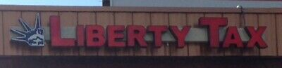 Electric Liberty Tax Building Sign Enquirer Shipping Estimate Its Not As Muc