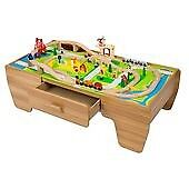 Wooden Train Set with Table