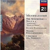 Mendelssohn: Symphonies Nos 1 & 2 -  Audio CD