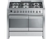 Smeg Dual (Electric and Gas) Cavity Cooker incl Extractor Fan