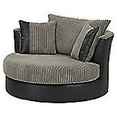 Kendal Cord Swivel cuddle chair two tone