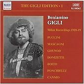Gigli Edition Vol. 1, The: Milan Recordings 1918 - 1919 CD NEW