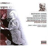 Orlando Di Lasso: Deutsche Lieder CD NEW