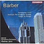 Samuel Barber Barber: Symphonies Nos. 1 & 2: The Schoo CD ***NEW***