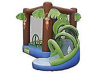 Elephant/crocodile bouncy castle with slide,