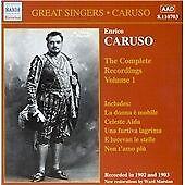 Caruso - Complete Recordings, Vol.1, , Very Good Original recording remastered