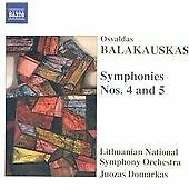 Symphonies Nos. 4 and 5 (Domarkas, Lithuanian Nso) CD NEW