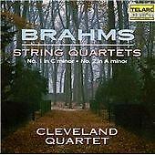 Brahms: String Quartets, Op. 51, Cleveland Quartet, Acceptable CD