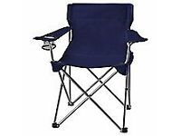 Folding camping chair blue with own carry bag new