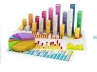 Statistics: statistical calculations, analysis of data, surveys, SPSS.
