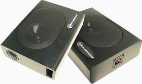 Custom Autosound One Pair Undercover 1 Speaker Enclosures Compact, 120 watts _^