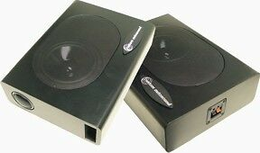 Custom Autosound One Pair Undercover 1 Speaker Enclosures Compact, 120 watts _@