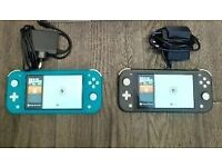 Nintendo Switch Lite Turquoise & Black - MINT Condition £130 each