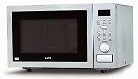 Sanyo 900 watt Combination Microwave Oven & Grill, £25 NO OFFERS Stainless Steel 07481 921982