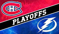 Canadiens PLAYOFFS tickets for sale vs Tampa Bay Lightning!!!