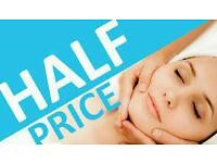 PPampered Half price facial plus head massage lasting 1 hour 15 mins only £12.50